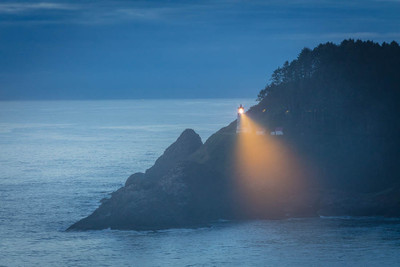 Dusk at Haceta Head Lighthouse