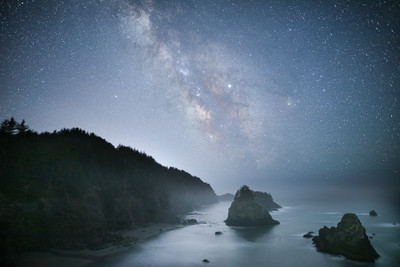 Milky Way and the Oregon Seacoast