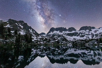 A Heartbeat at Lake Ediza and the Milky Way