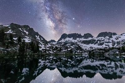 A Heartbeat at Lake Ediza and the Milky Way