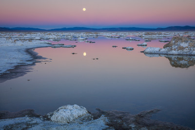 The Rising Moon at Mono Lake