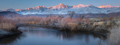 Panoramic, Winter Dawn, the Owens Valley