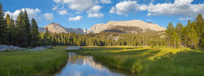 A Meadow near Mount Whitney - Panoramic