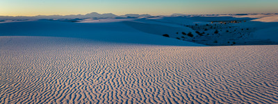 Sunset at White Sands, New Mexico