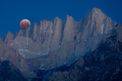 Super Flower Blood Moon Eclipse over Mount Whitney