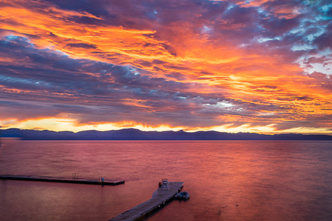 An Enchanting Sunset at Lake Tahoe