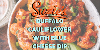 Suzie's Buffalo Cauliflower With Blue Cheese Dip