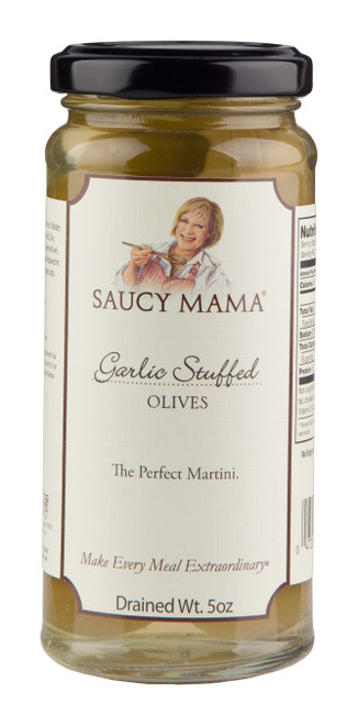 Saucy Mama Garlic Stuffed Olives (5oz.)