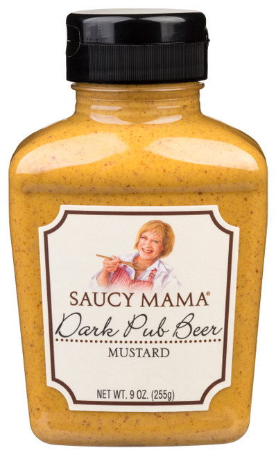 Saucy Mama Dark Pub Beer Mustard (9oz.)