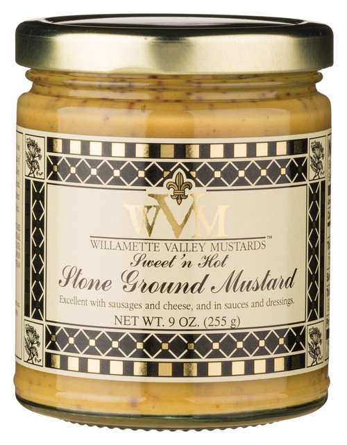 WVM Sweet 'N Hot Stone Ground Mustard (9oz.)