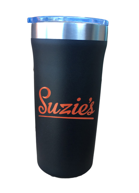 Suzie's Black Stainless Steel Tumbler
