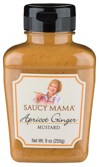 SALE! Saucy Mama Apricot Ginger Mustard (9oz.)