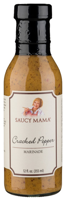 Saucy Mama Cracked Pepper Marinade (12oz.)
