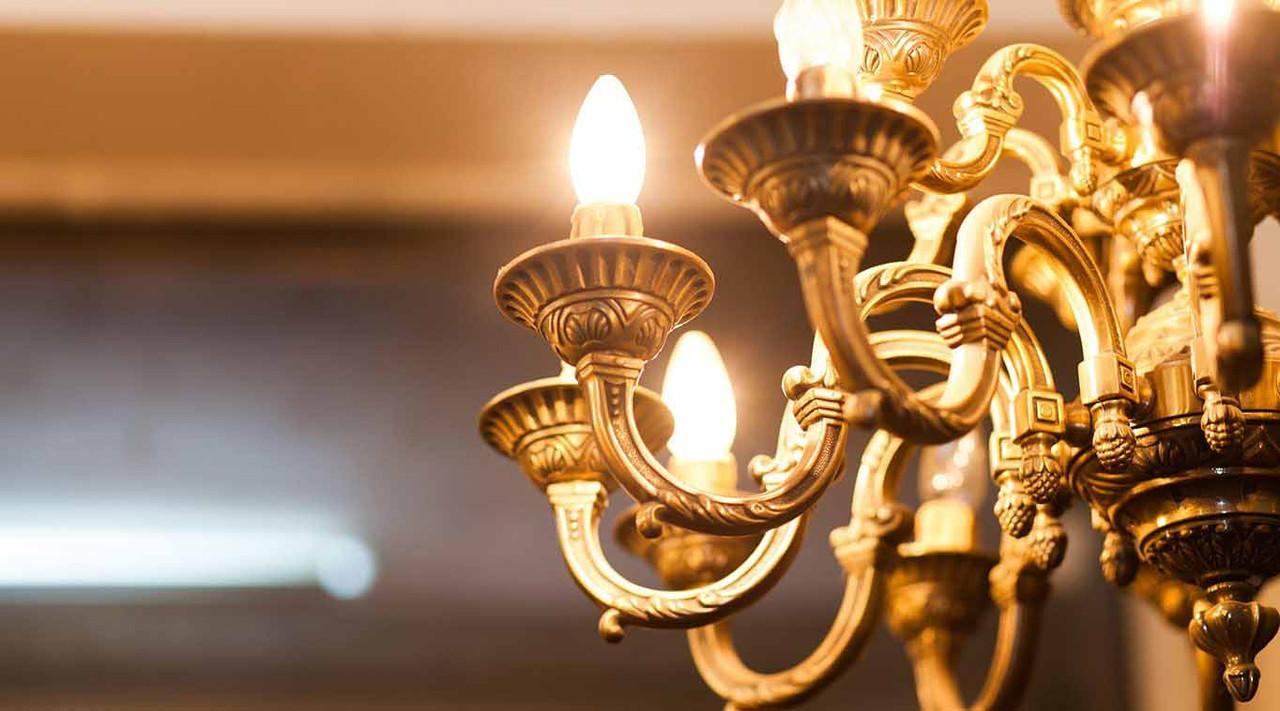 LED C35 Cool White Light Bulbs