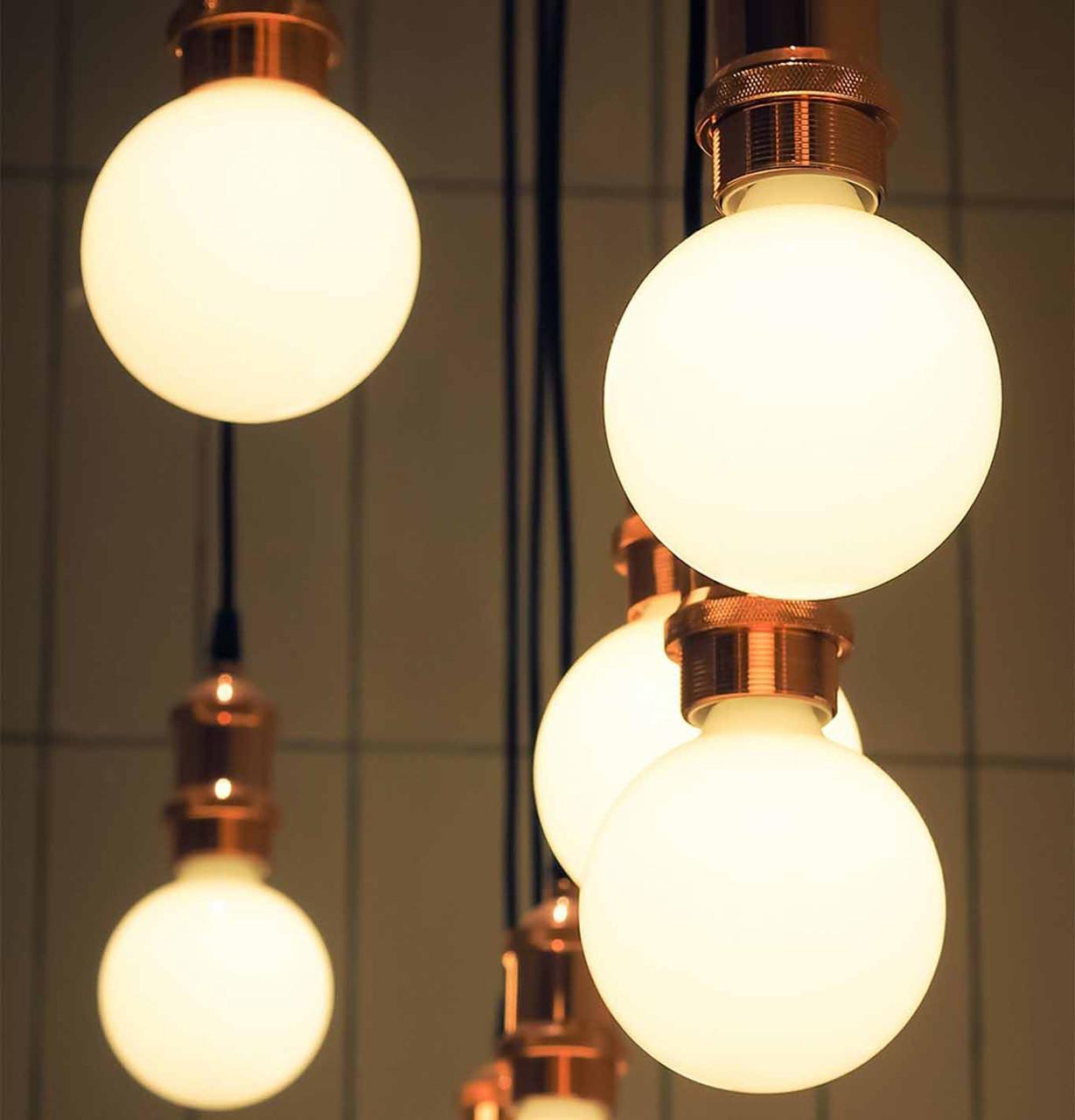 LED Globe Spiral Filament Light Bulbs