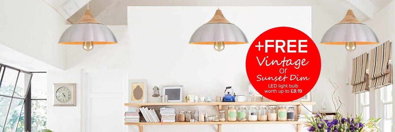 Aluminium and Wood Lamp Shades