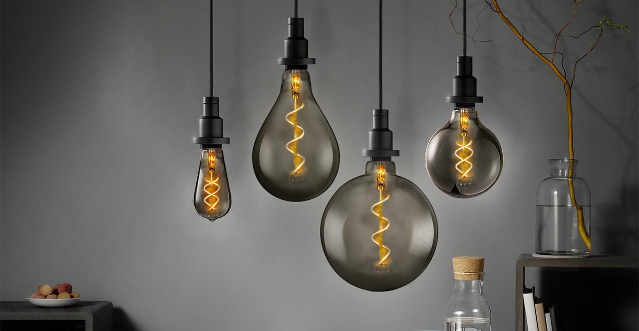 Smoked Glass Bulbs