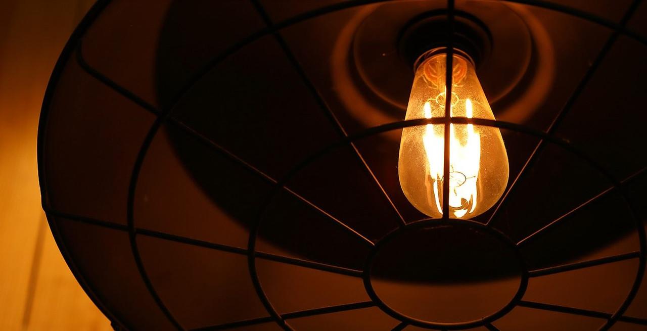 LED Squirrel Cage Antique Bronze Light Bulbs