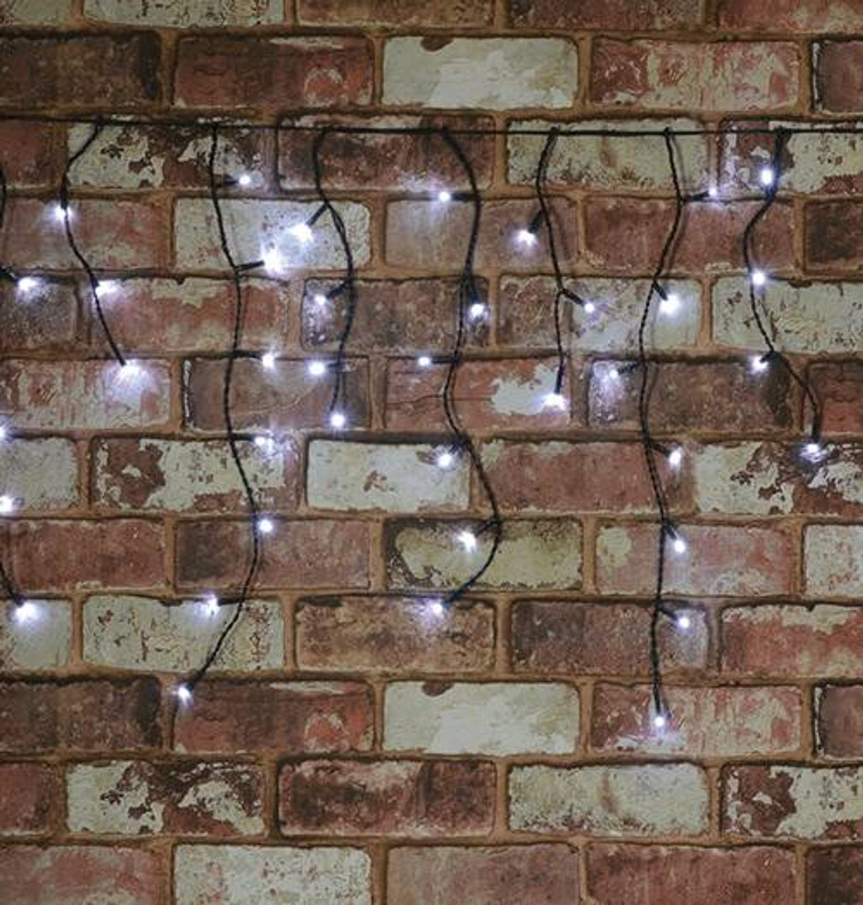 Lyyt 240 Cool White LED Multi-Sequence Auto Timer Icicle String Lights