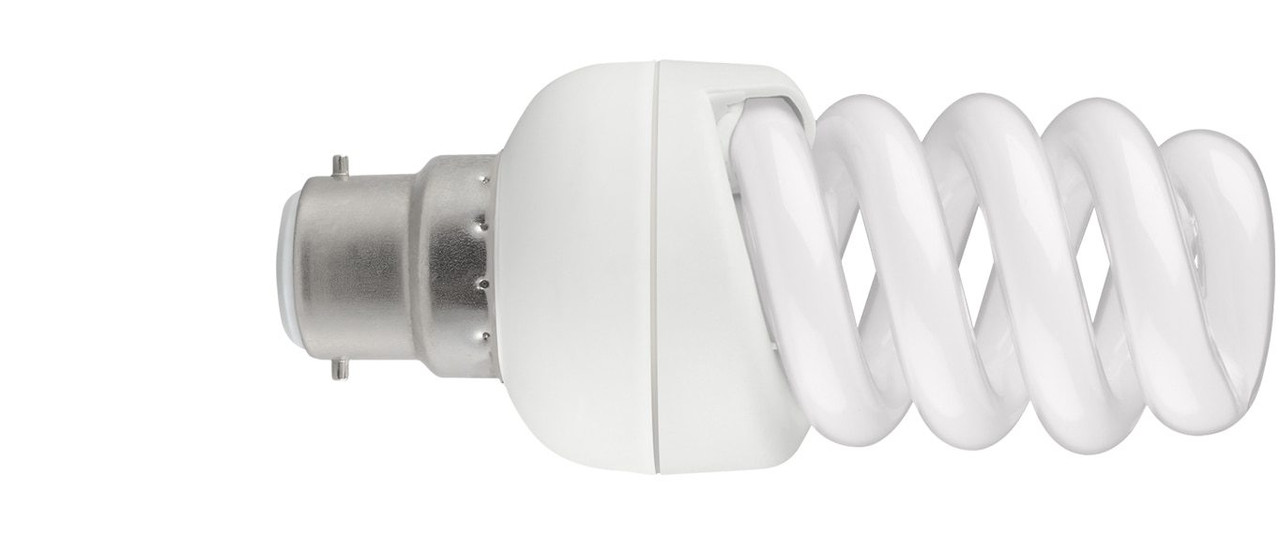Energy Saving CFL Helix Spiral 25 Watt Light Bulbs