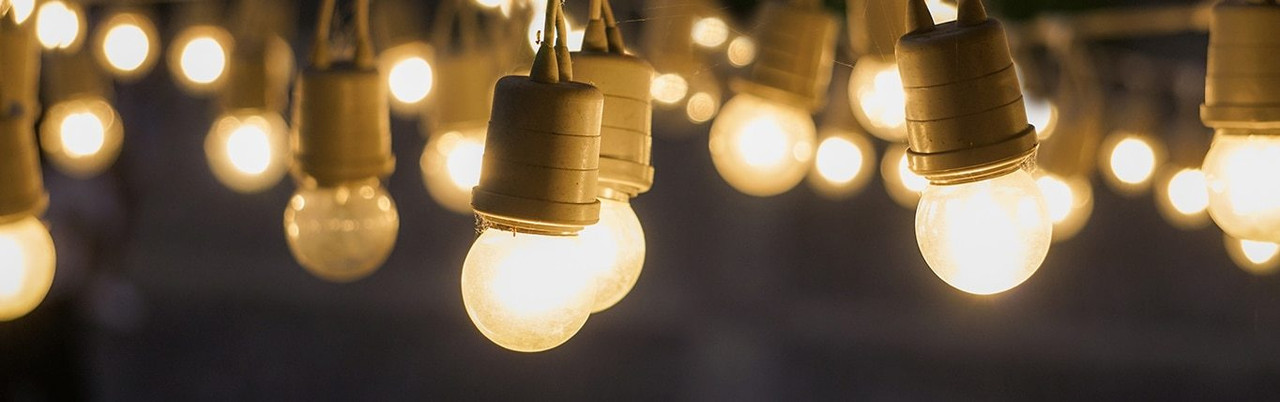 Incandescent Round Amber Light Bulbs