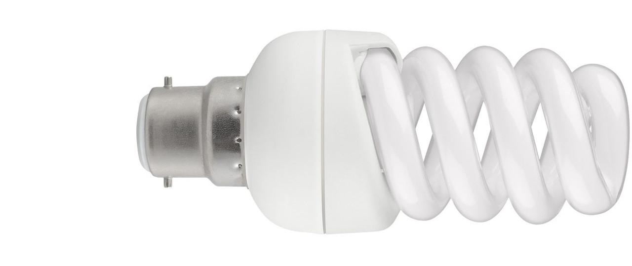 Compact Fluorescent Helix Spiral B22 Light Bulbs