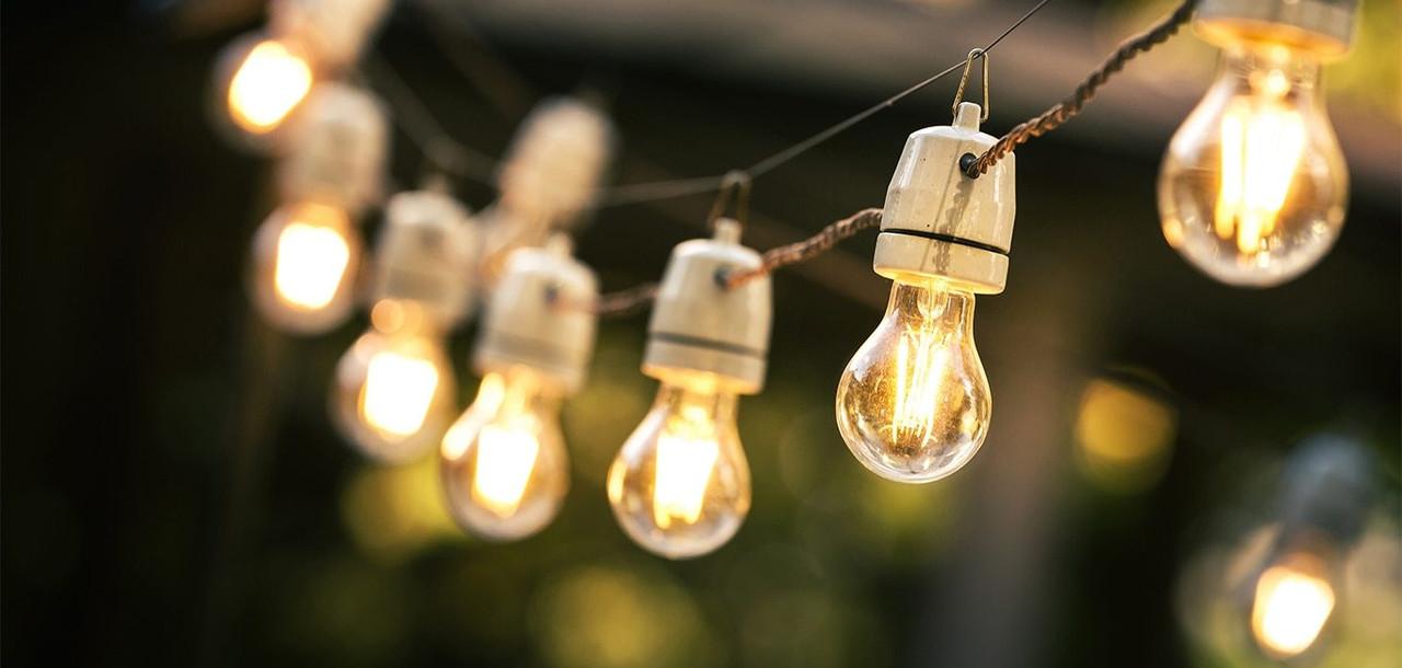 LED Golfball Warm White Light Bulbs