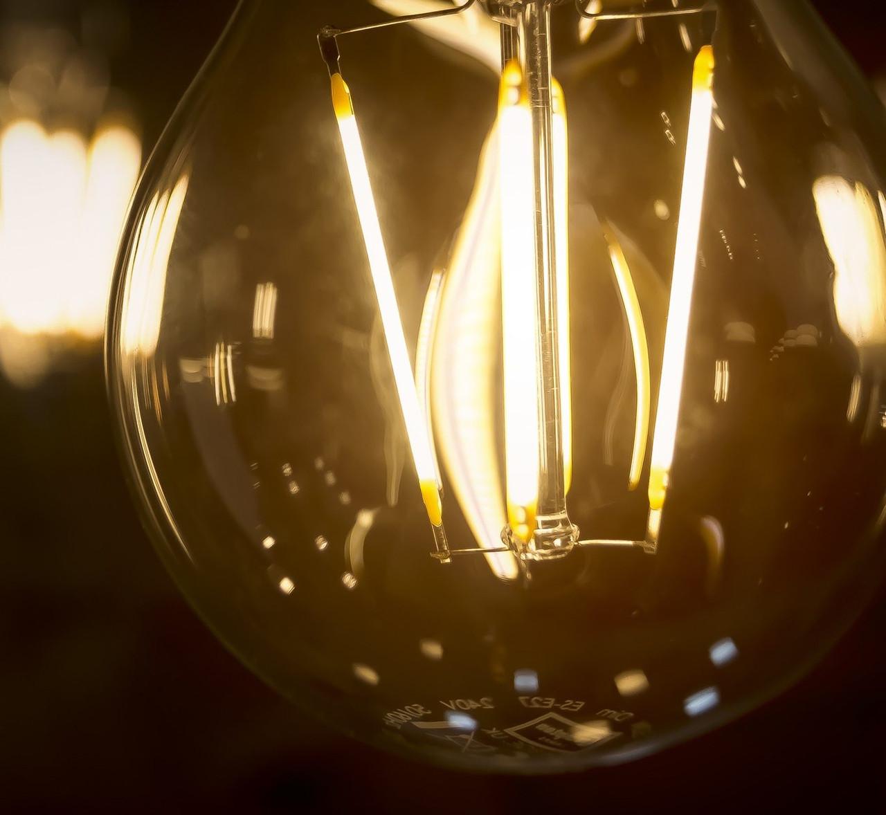LED GLS Silver Light Bulbs