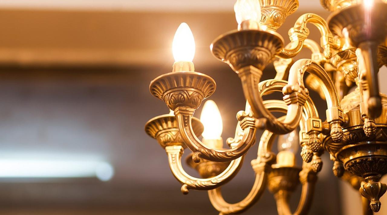 LED Candle Spiral Filament Light Bulbs