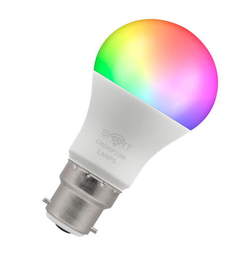 Crompton LED Smart Wifi GLS B22 8.5W Dim Warm White + RGB 12325 Image 1