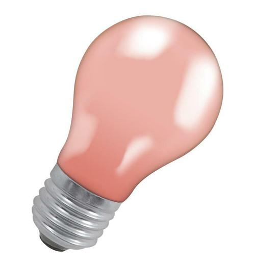 Crompton GLS E27 15W IP65 Pink 15PIES-GLZ Image 1