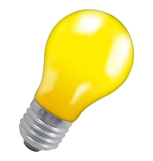 Crompton GLS E27 15W IP65 Yellow 15YES-GLZ Image 1