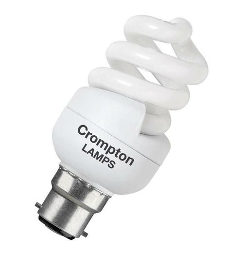Crompton CFL T2 Mini Helix Spiral B22 11W 2700K BPCFT211WWBC-1BL Image 1