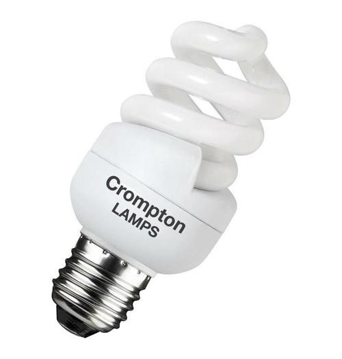Crompton CFL T2 Mini Helix Spiral E27 11W 2700K BPCFT211WWES-1BL Image 1