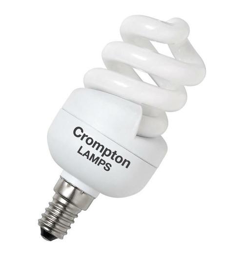 Crompton CFL T2 Mini Helix Spiral E14 11W 2700K BPCFT211WWSES-1BL Image 1
