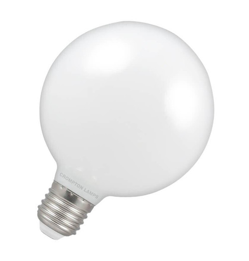 Crompton LED Globe 95mm Dimmable 7w ES opal Image 1