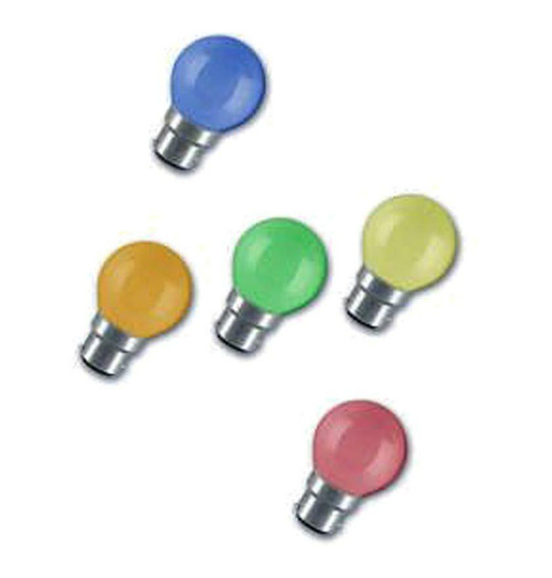 Crompton Festoon Golfball B22 15W Mixed Colours Bulb Image 1