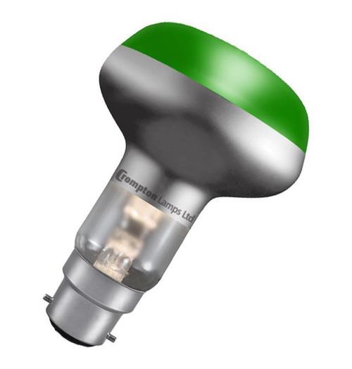 Crompton R80 Reflector B22 60W Green R8060GBC Image 1