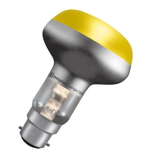 Crompton R80 Reflector B22 60W Yellow R8060YBC Image 1