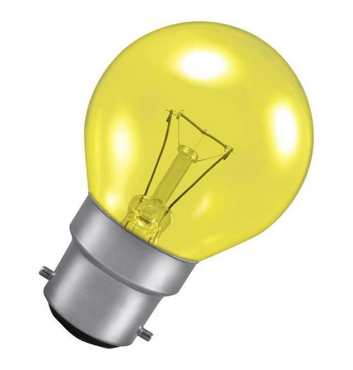 Crompton Golfball B22 25W Yellow ROU25HARYBC Image 1