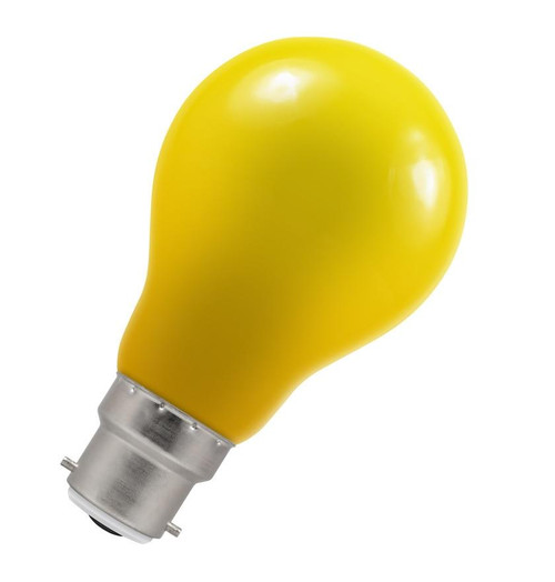 Crompton LED GLS B22 1.5W IP65 Yellow 4160 Image 1