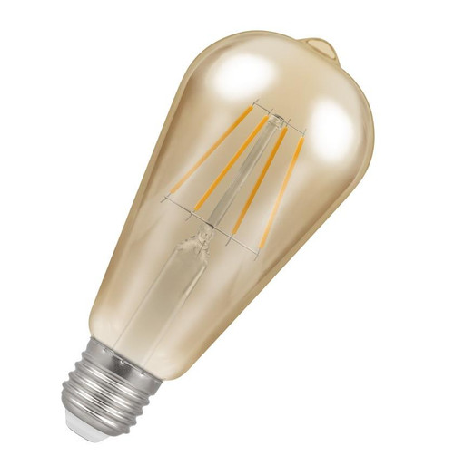 Crompton LED Squirrel Cage ST64 E27 5W Dim 2200K Antique 4238 Image 1