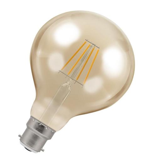 Crompton LED Globe B22 5W Dim 2200K Antique 4283 Image 1