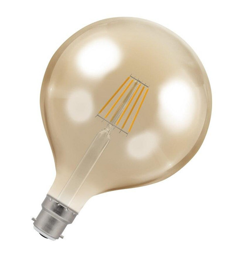 Crompton LED Globe B22 7.5W Dim 2200K Antique 4306 Image 1