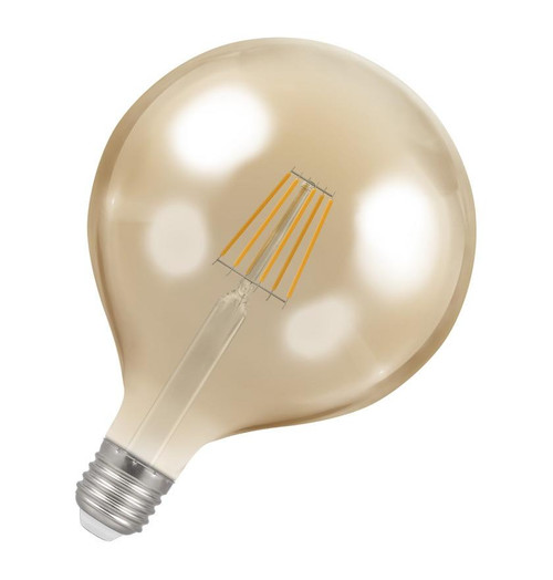 Crompton LED Globe E27 7.5W Dim 2200K Antique 4313 Image 1