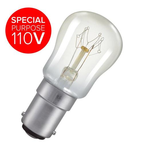 Special purpose 110V.Crompton 110V Pygmy B15 15W 2800K SIG15CSBC110