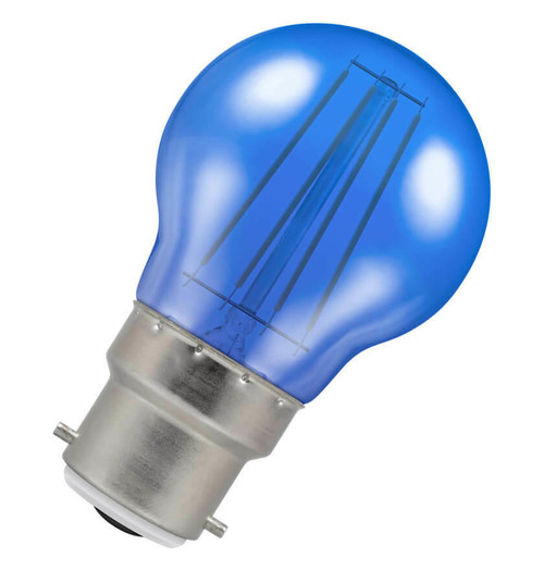 Crompton LED Golfball B22 4W Blue 9011 Image 1