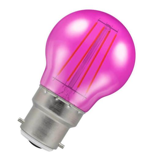 Crompton LED Golfball B22 4W Pink 9035 Image 1
