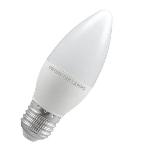 Crompton LED Candle E27 5.5W Dim 2700K 9226 Image 1