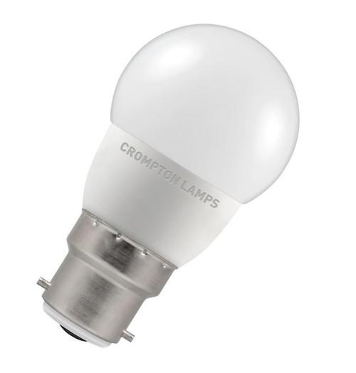 Crompton LED Golfball B22 5.5W Dim 6500K 9370 Image 1